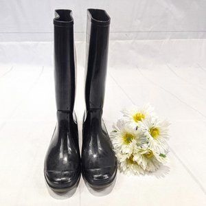 Coach Women's Black Rain Boots SZ 6